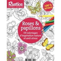Hors-série Rustica Coloriage : Roses et papillons