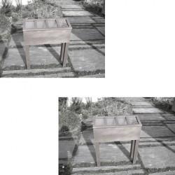 Lot de 2 serres en bois TERRES DE VILLE - couleur gris