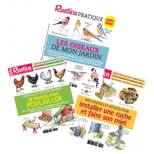 """Pack """"Succès Presse"""" : Apiculture + Oiseaux du jardin + Spécial poulailler"""