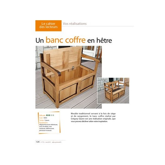 un banc coffre en h tre. Black Bedroom Furniture Sets. Home Design Ideas