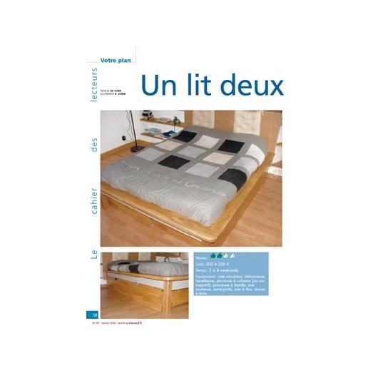 un lit deux places tiroirs. Black Bedroom Furniture Sets. Home Design Ideas