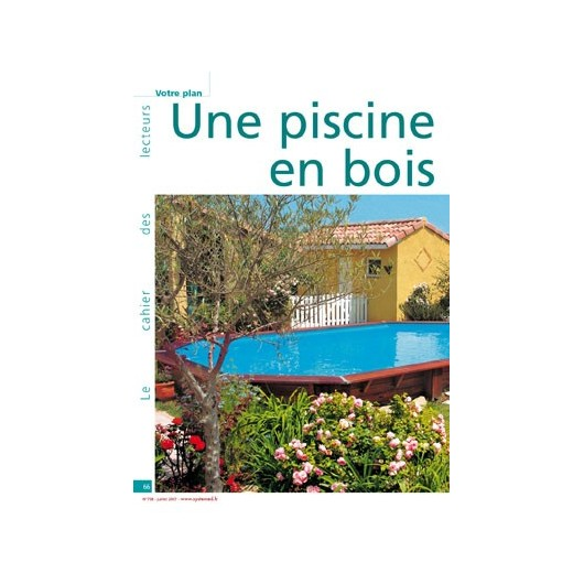Une piscine en bois semi enterr e for Destockage piscine bois semi enterree