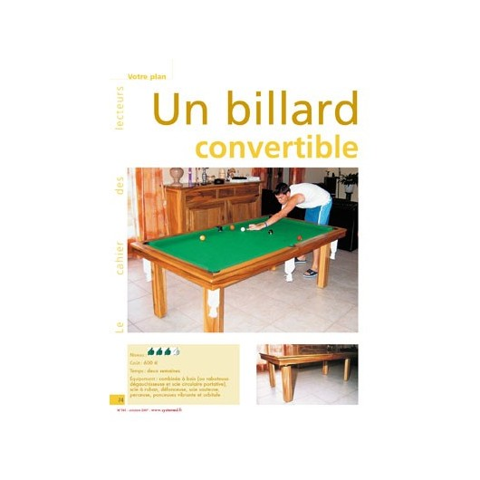 billard am ricain convertible en table. Black Bedroom Furniture Sets. Home Design Ideas