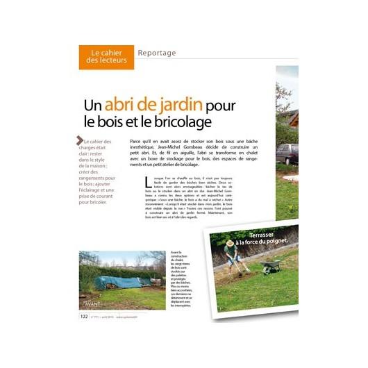 Un abri de jardin pour le bois et le bricolage for Bricolage et jardin