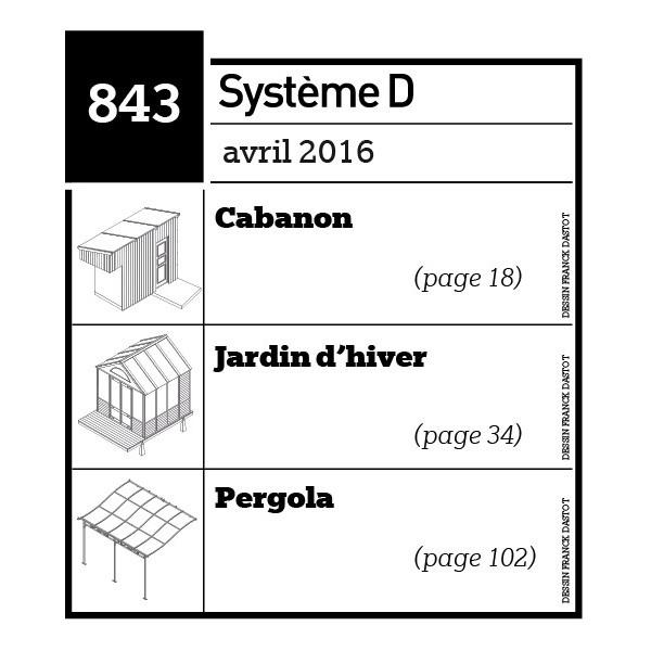 Cabanon-Jardin d'hiver-Pergola-Plan téléchargeable au format PDF