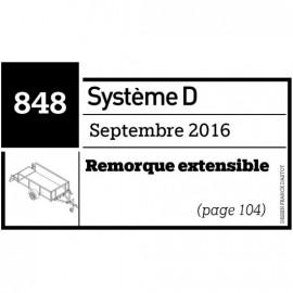 Remorque extensible - Plan envoyer par courrier au format papier