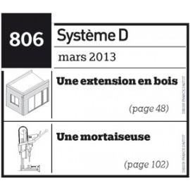 Extension en bois - Mortaiseuse - Plan téléchargeable au format PDF