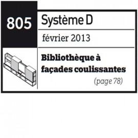 Bibliothèque à façades coulissantes - Plan téléchargeable au format PDF