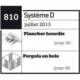 Plancher hourdis - Pergola en bois  - Plan téléchargeable au format PDF