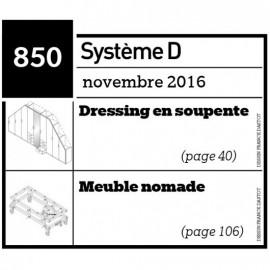 Dressing en soupente + meuble nomade - Plan téléchargeable au format PDF