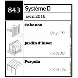 Cabanon-Jardin d'hiver-Pergola-Plan envoyé par courrier au format papier