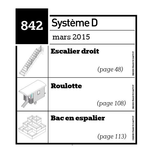 Escalier droit-Roulotte-Bac en espalier-Plan téléchargeable au format PDF