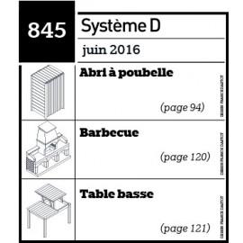 Abri à poubelle - Barbecue - Table basse -Plan téléchargeable au format PDF
