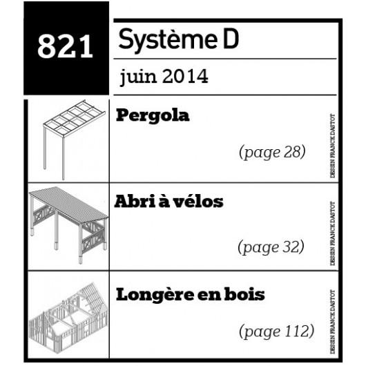 Pergola - Abri à vélos - Longère en bois - Plan téléchargeable au format PDF