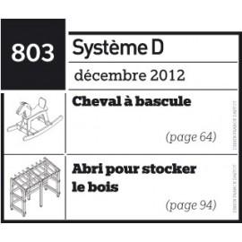 Cheval à bascule + Abri pour stocker le bois- Plan téléchargeable au format PDF
