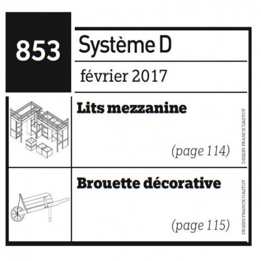 Lits mezzanine + Brouette décorative - Plan envoyé par courrier au format papier