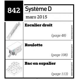 Escalier droit-Roulotte-Bac en espalier-Plan envoyé par courrier au format papier