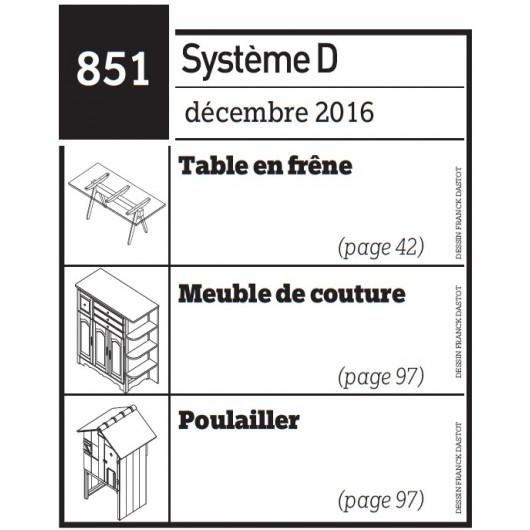 Table en frêne + Meuble de couture + Poulailler - Plan téléchargeable au format PDF