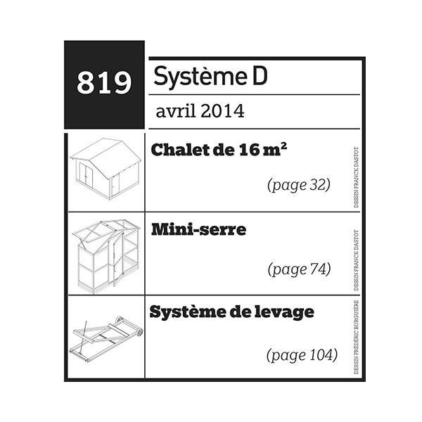 Chalet de 16 m2 + Mini-serre - Système de levage - Plan téléchargeable au format PDF