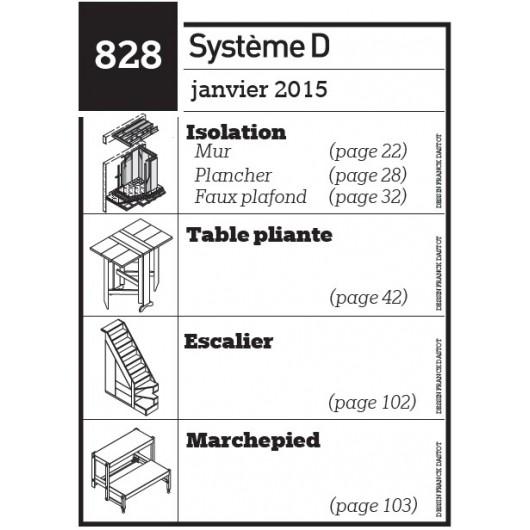Isolation - Table pliante - Escalier - Marchepied - Plan téléchargeable au format PDF