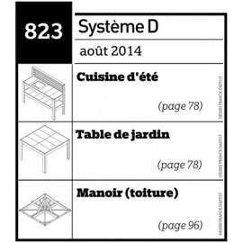 Cuisine d'été - Table de jardin - Manoir (toiture) - Plan téléchargeable au format PDF