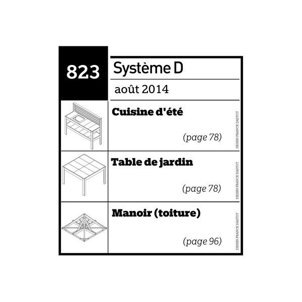Cuisine d\'été - Table de jardin - Manoir (toiture) - Plan téléchargeable au  format PDF