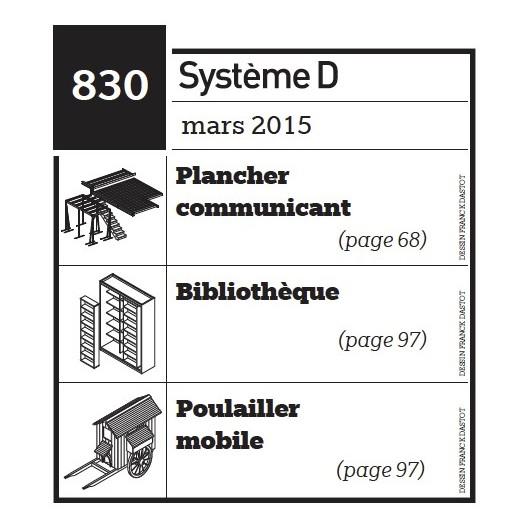 Plancher communicant - Bibliothèque - Poulailler mobile - Plan téléchargeable au format PDF