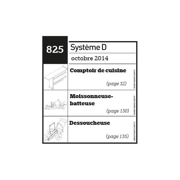 Comptoir de cuisine - Moissonneuse-batteuse - Dessoucheuse - Plan téléchargeable au format PDF