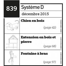 Chien en bois - Extension en bois et pierre - Fontaine à bras - Plan téléchargeable au format PDF