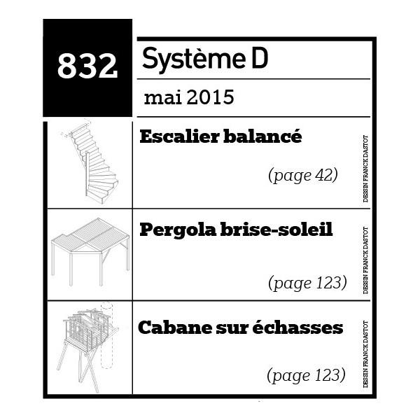 Escalier balancé - Pergola brise-soleil - cabane sur échasses - Plan téléchargeable au format PDF