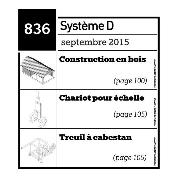 Construction en bois - Chariot pour échelle - Treuil à cabestan - Plan téléchargeable au format PDF