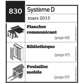 Plancher communicant - Bibliothèque - Poulailler mobile - Plan envoyé par courrier au format papier