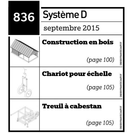 Construction en bois - Chariot pour échelle - Treuil à cabestan - Plan envoyé par courrier au format papier