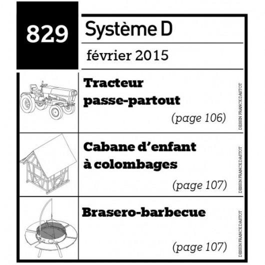 Tracteur passe-partout - Cabane d'enfant à colombages - Brasero barbecue - Plan téléchargeable au format PDF