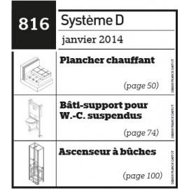Plancher chauffant - Bâti-support pour W.C suspendus - Ascenseur à bûches - Plan téléchargeable au format PDF