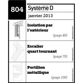 Isolation par l'extérieur - Escalier quart tournant - Portillon métallique - Plan téléchargeable au format PDF