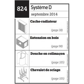Cache-radiateur - Extension en bois - Douche en colimaçon - Chevalet de sciage - Plan téléchargeable au format PDF