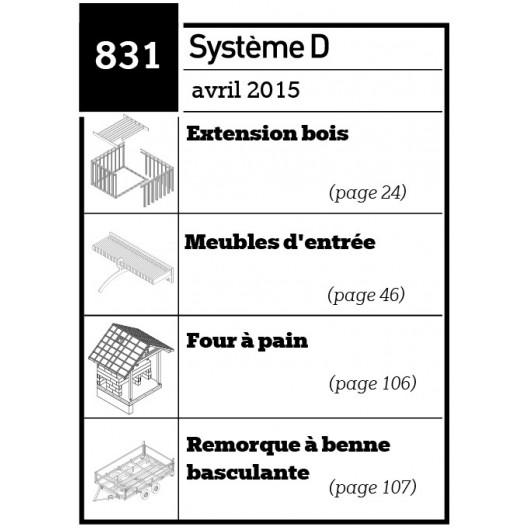 Extensions bois - Meubles d'entrée - Four à pain - Remorque à benne basculante - Plan téléchargeable au format PDF