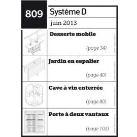 Desserte mobile - Jardin en espalier - Cave à vin enterrée - Porte à deux vantaux - Plan téléchargeable au format PDF