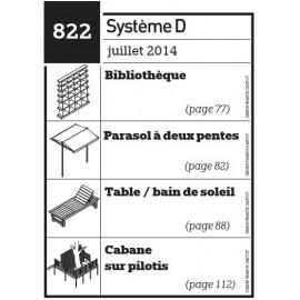 Bibliothèque - Parasol à deux pentes - Table / bain de soleil - cabane sur pilotis - Plan téléchargeable au format PDF