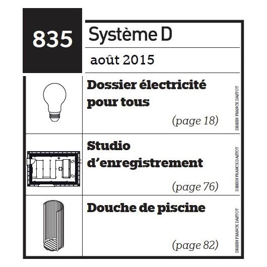 Dossier électricité pour tous - Studio d'enregistrement - douche de piscine - Plan envoyé par courrier au format papier