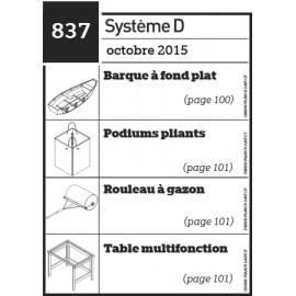 Barque à fond plat - Podiums pliants - Rouleau à gazon - Table multifonction - Plan envoyé par courrier au format papier