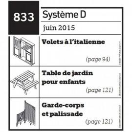 Volets à l'italienne -  Table de jardin pour enfants - garde-corps et palissade - Plan envoyé par courrier au format papier