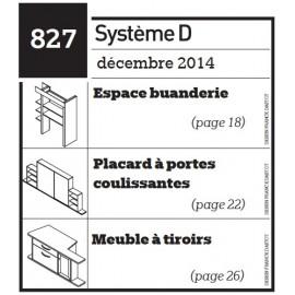 Espace buanderie - Placard à portes coulissantes - Meuble à tiroirs - Scooter pour enfant - Plan téléchargeable au format PDF