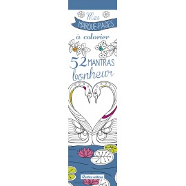 Mes marque-pages à colorier : 52 mantras bonheur