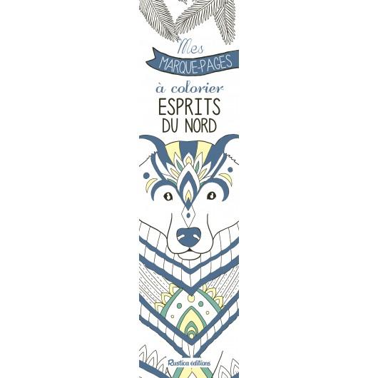 Mes marque-pages à colorier : Esprit du Nord