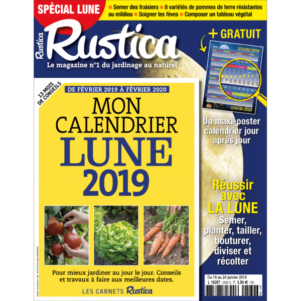 Calendrier Lunaire Fevrier.Rustica Special Lune Janvier 2019