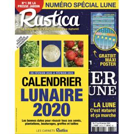 Calendrier Lunaire Rustica 2021 RUSTICA   Spécial Lune + CarCalendrier Lunaire   Janvier 2020