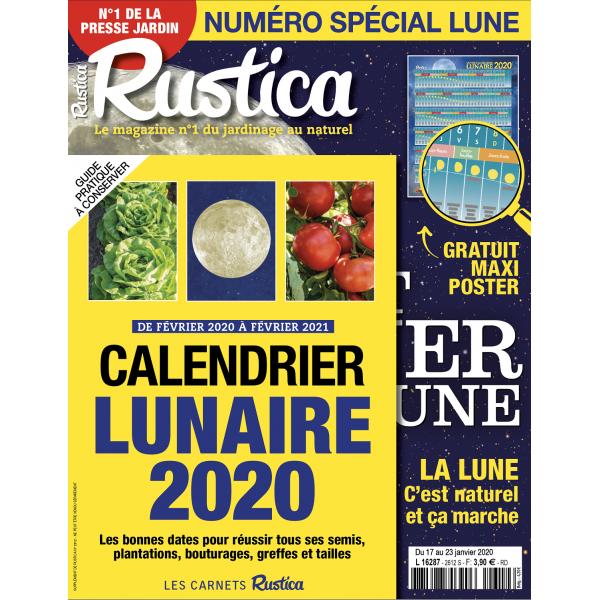 Calendrier Rustica 2021 RUSTICA   Spécial Lune + CarCalendrier Lunaire   Janvier 2020